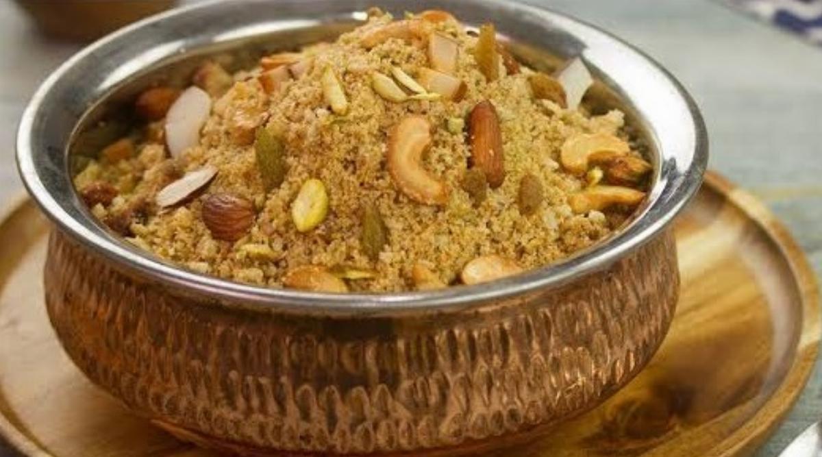 Besan Panjiri Recipe - My Healthy Breakfast