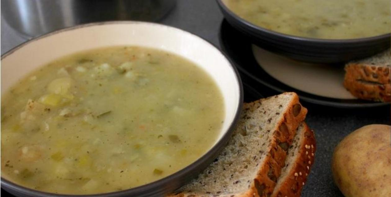 Potato and Spring Onion Soup Recipe