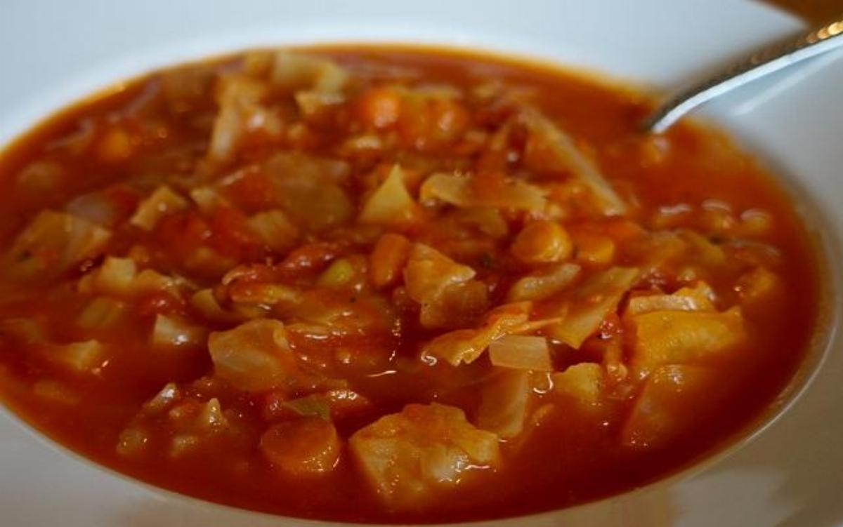 Tomato, Cabbage and Bean Soup Recipe