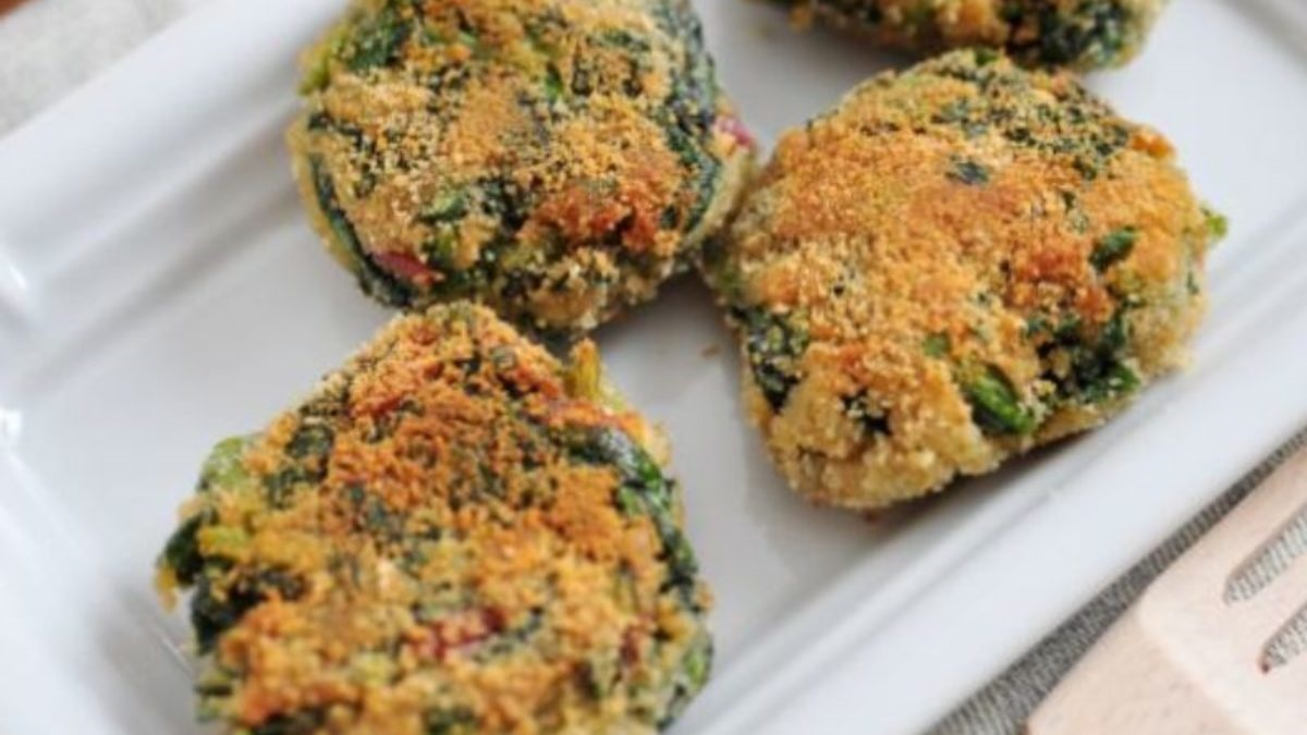 Spinach Chickpeas Cutlet Recipe