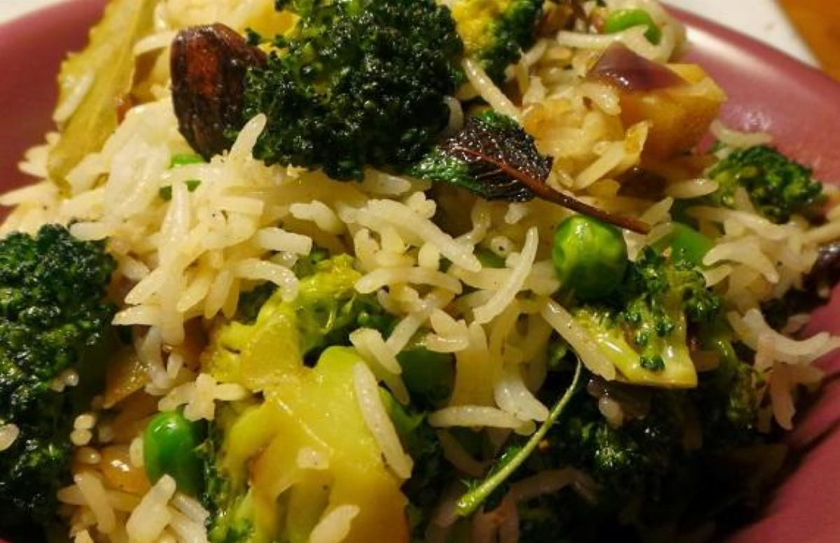 Broccoli Peas Pulao Recipe