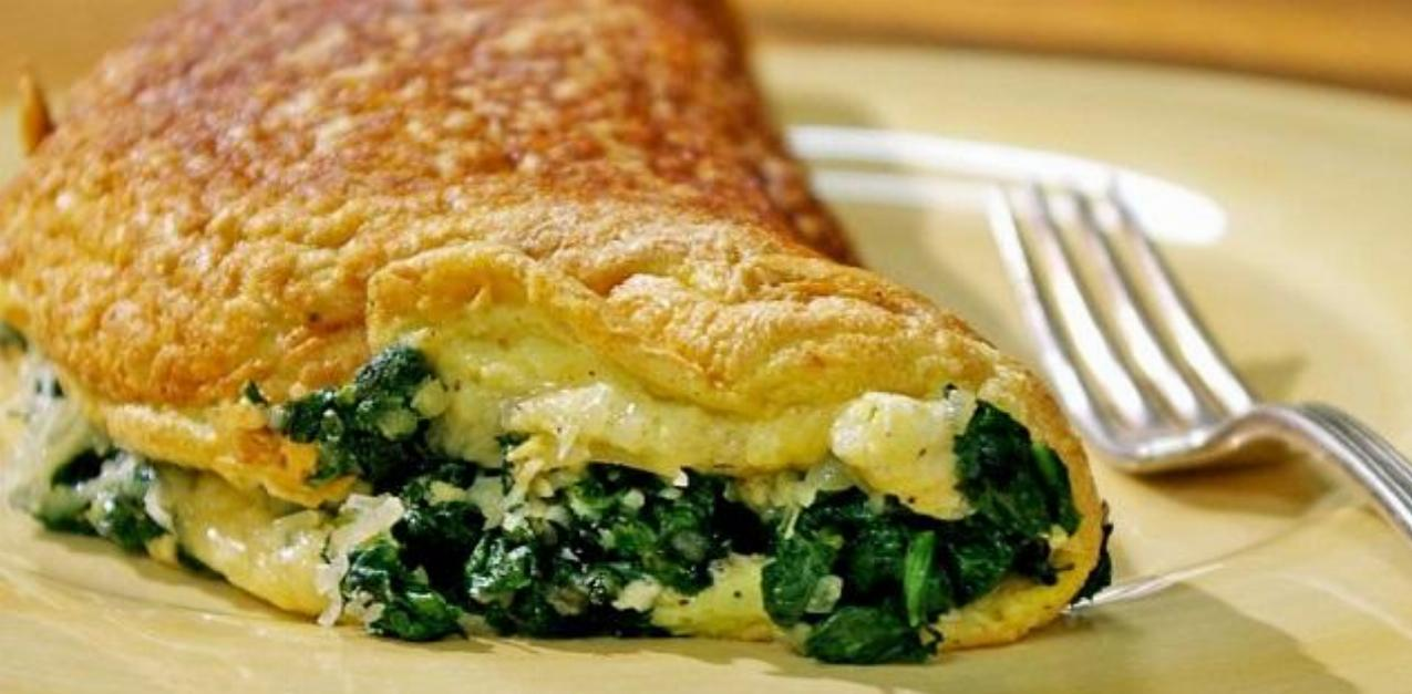 Cheese Spinach Omelette