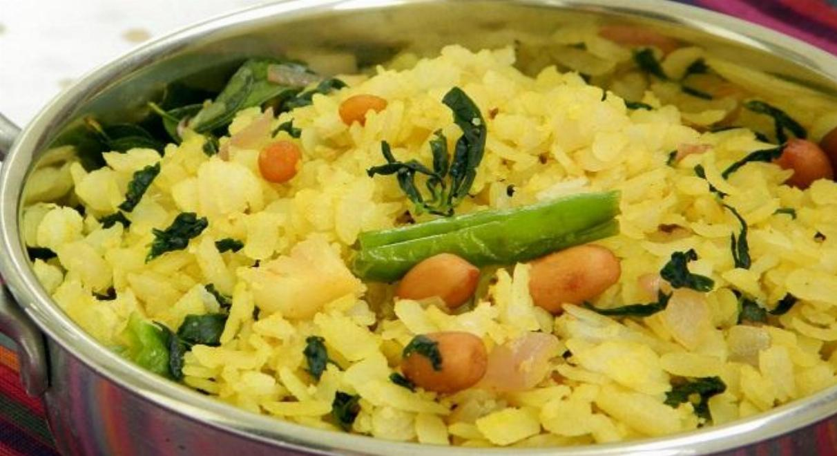 Methi (Fenugreek) Aloo Poha Recipe