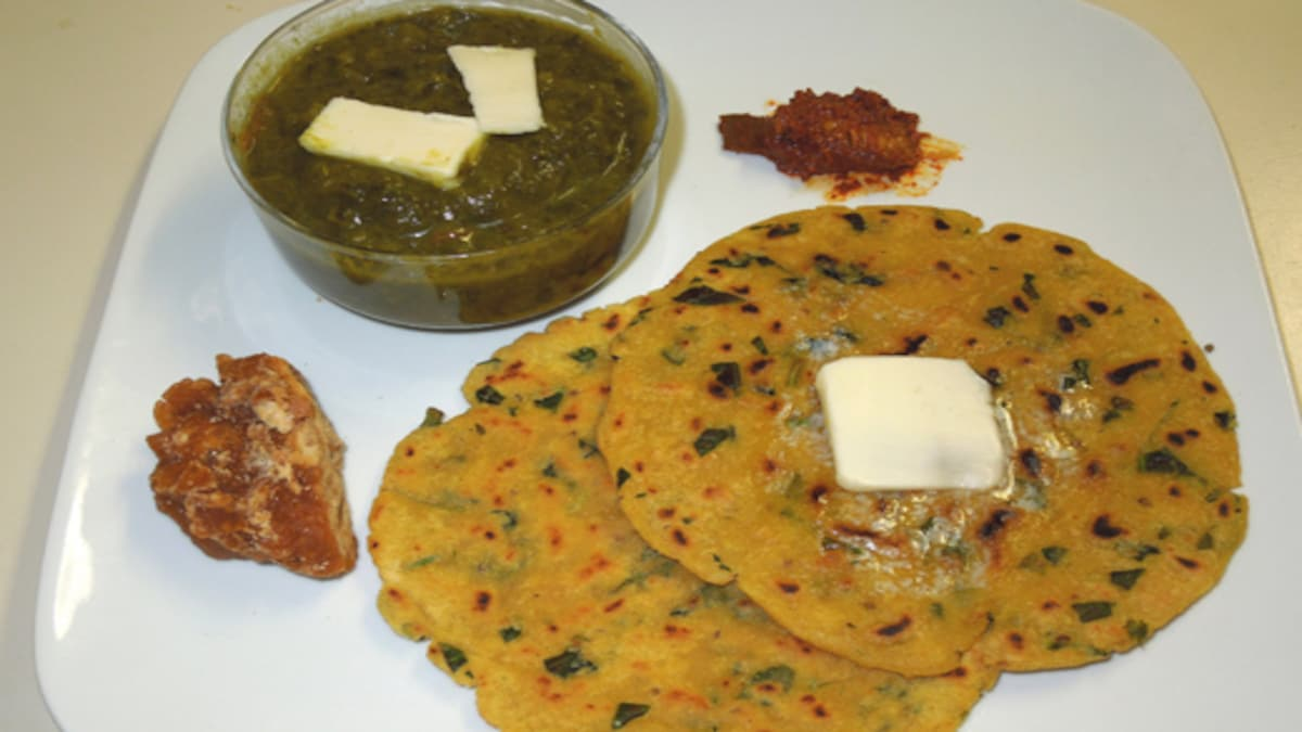 Onion Makka Paratha Recipe