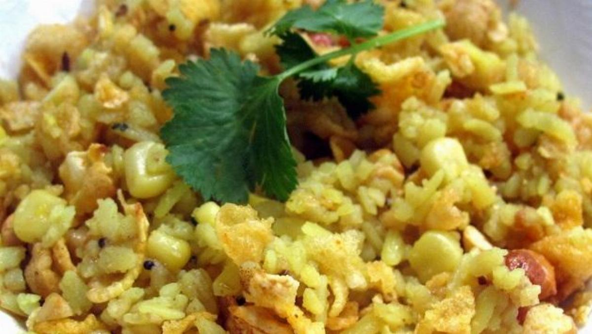 Corn Poha Recipe