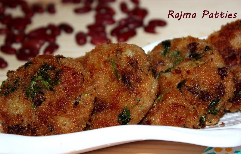 Rajma Patties/Cutlet Recipe