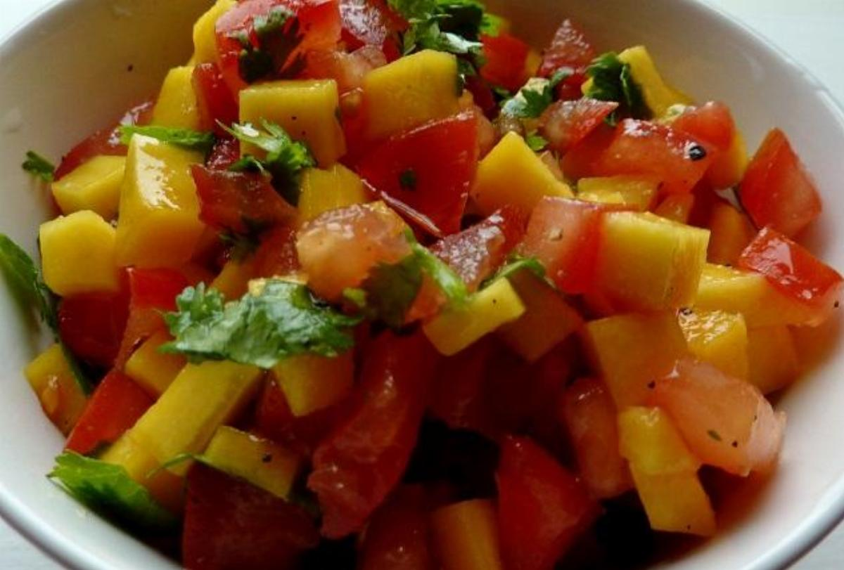 Mango Tomato Salad Recipe