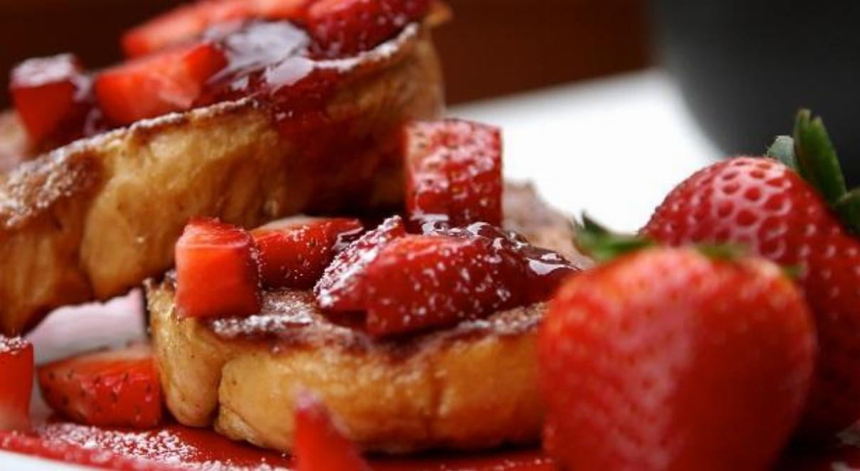 Toast with Strawberries Recipe